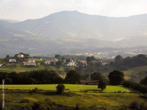 Spoed Foto op Canvas Grijze traf. The pays basque countryside pyrenees atlantique aquitaine,