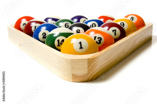 Canvas Print Pool or Billiard Balls