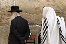 The Prays In Western Wall In Jerusalem