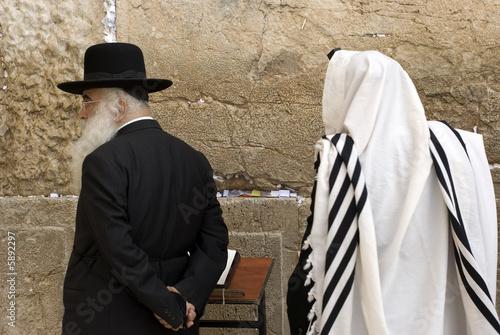 Tablou Canvas The prays in western wall in Jerusalem