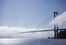 Fog Rolls Over The Golden Gate Bridge In San Francisco