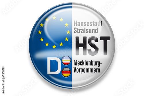 Fotografie, Tablou  Autokennzeichen: HST, Hansestadt Stralsund