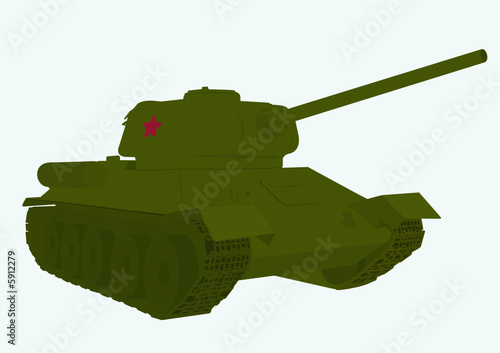 Poster Militaire legendary Russian tank of the second world war T 34