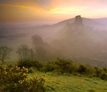 Early Morning View Of Corfe Castle