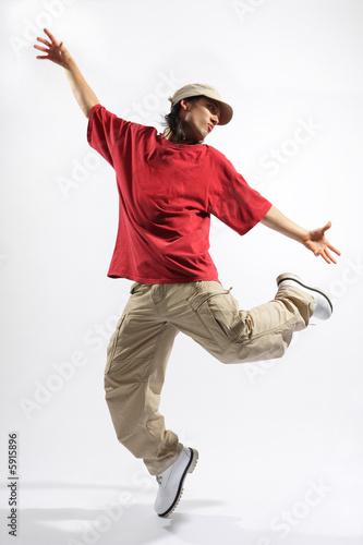 Láminas  hip-hop style dancer posing on isolated background