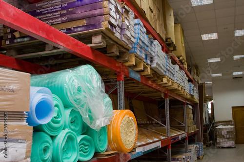 Photo Warehouse a rack of a box