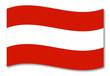 österreich austria fahne schatten