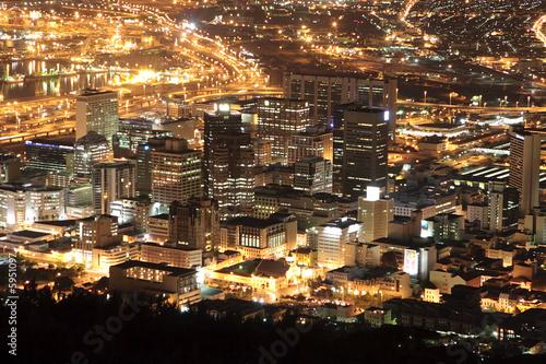 Staande foto Afrika city lights
