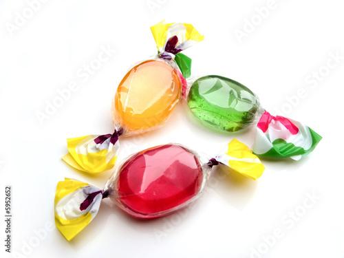 Foto op Aluminium Snoepjes 3 bonbons
