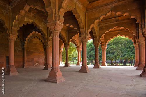 Stickers pour portes Delhi Arches in the Red Fort - Delhi, India