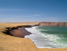 Red Beach At Paracas In Peru