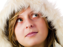 Girl Wearing A White Coat