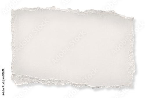Fotografía  Rasgado de papel de color blanquecino. Aseguramiento camino.