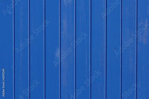 Photo  planches de bois bleues