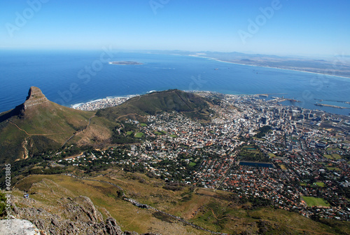 Papiers peints Afrique du Sud general view of Capetown and Table Bay(South Africa)