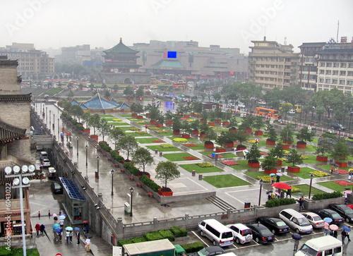 Cadres-photo bureau Xian Grande place, ville de Xian, Chine