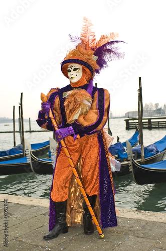 In de dag Boerderij Venice carnival mask