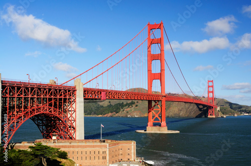 Keuken foto achterwand San Francisco Golden Gate Bridge and Fort Point on fine morning