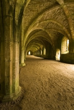 Vaulted Ceilings In Fountains Abbey In North Yorkshire