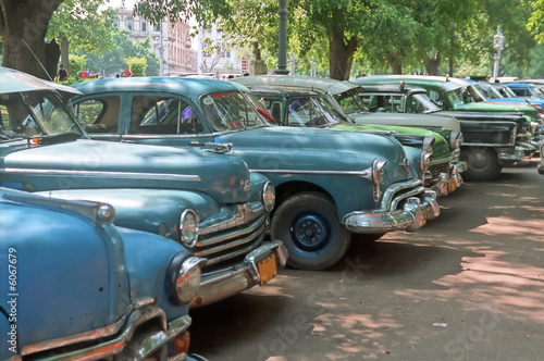 Canvas Prints American Famous Place Parked old cars - Cuba