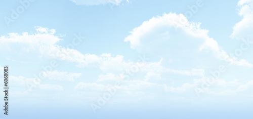 Printed kitchen splashbacks Light blue Beautiful clouds