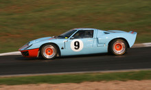 Classic Or Vintage Racing Car In Action.