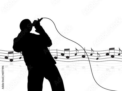 Fotomural cantante