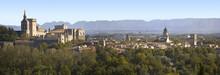 Vue Panoramique Sur Avignon Et Le Palais Des Papes