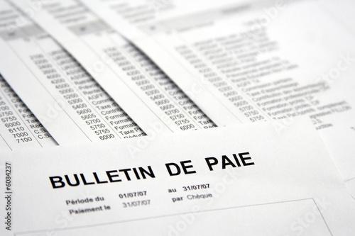 Fotografiet Rémunération, salaire et bulletin de paie
