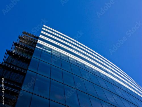 Fototapeta Blue glass city building obraz na płótnie