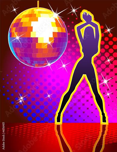 Fototapeta Vector background disco pary obraz