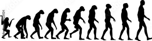 Fototapeta human evolution vector obraz