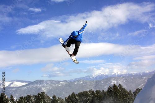 Snowboard ( dans les airs ) Tapéta, Fotótapéta