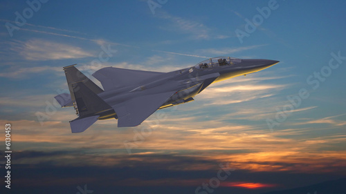 Avion militaire Obraz na płótnie