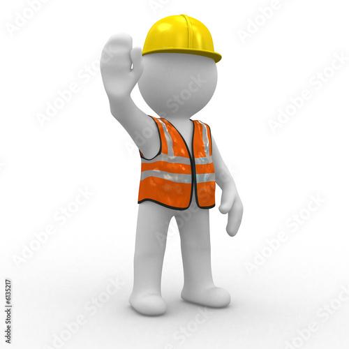 Fotografie, Obraz  3d human at a stop pose
