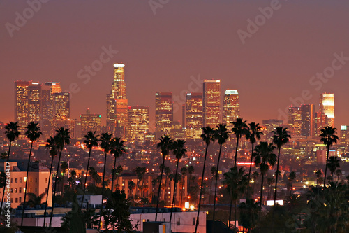 Foto op Canvas Los Angeles Los Angeles Skyline