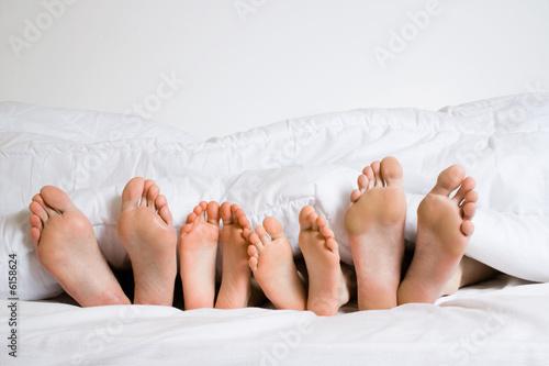 Obraz Famille de pieds - fototapety do salonu
