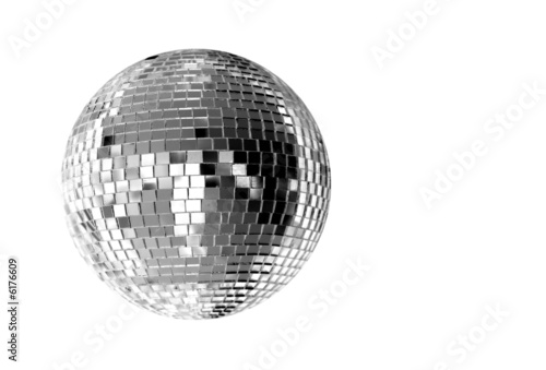 Fotografie, Obraz  big silver disco ball
