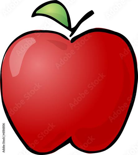 Fototapeta Sketch of an apple Hand-drawn lineart look illustration obraz