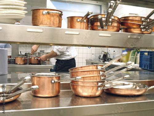 Aluminium Prints Buffet, Bar profi köche beim kochen
