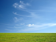 Blue Sky And Green Grass For Successful Advertisement