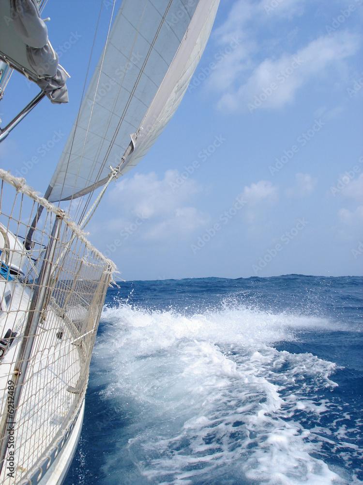 Foto-Schiebegardine Komplettsystem - segeln