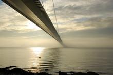 Mist Shrouds The Humber Bridge