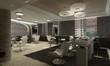 Modern interior 3D computer rendering