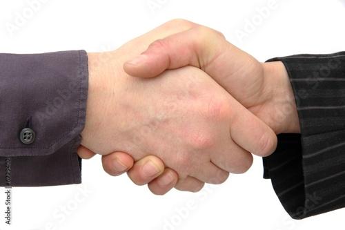 Fotografie, Obraz  Poignée de mains