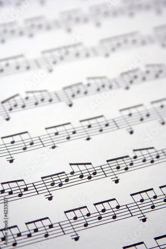 Carta da parati Partition de musique