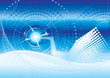 vector file of futuristic technology blue color background
