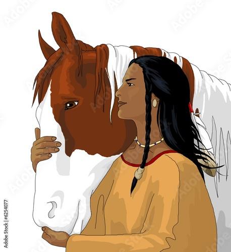 Poster Indiens squow_e_cavallo