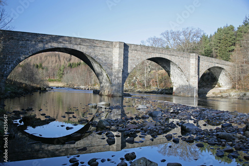 Canvastavla Bridge over the River Dee, near Banchory, Aberdeen