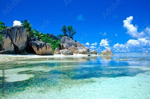 Foto Rollo Basic - plage des seychelles